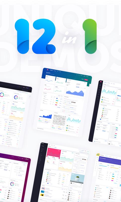 Bootstrap 4 HTML, React, Angular 8 & VueJS Admin Dashboard Theme - preview 21