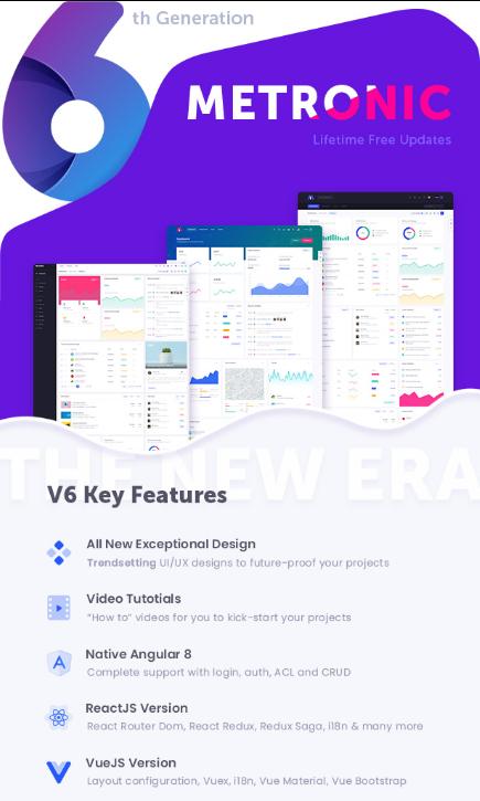 Bootstrap 4 HTML, React, Angular 8 & VueJS Admin Dashboard Theme - preview 23