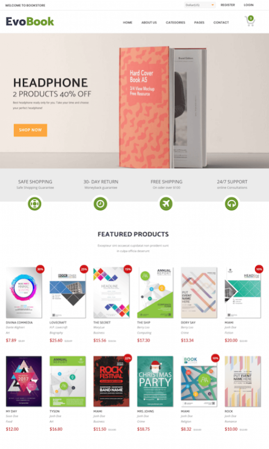 Evobook multipurpose ecommerce template - preview 27